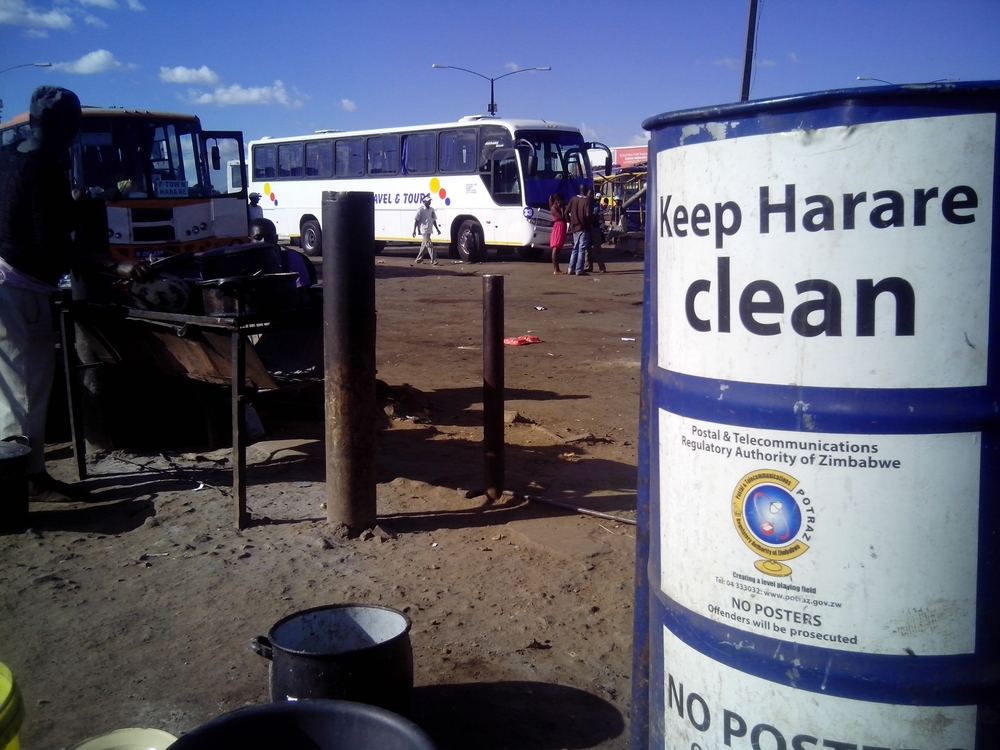 Mbare bus station, Harare, 24 March 2015