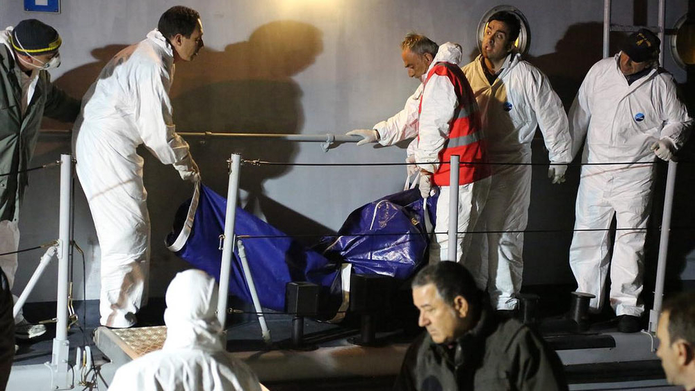 A 25-year-old women did not survive the high seas ordeal and was taken off an Italian coastguard vessel in a body bag.