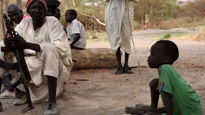 Screen-grab from film When the war came back- about Kandak in South Sudan.