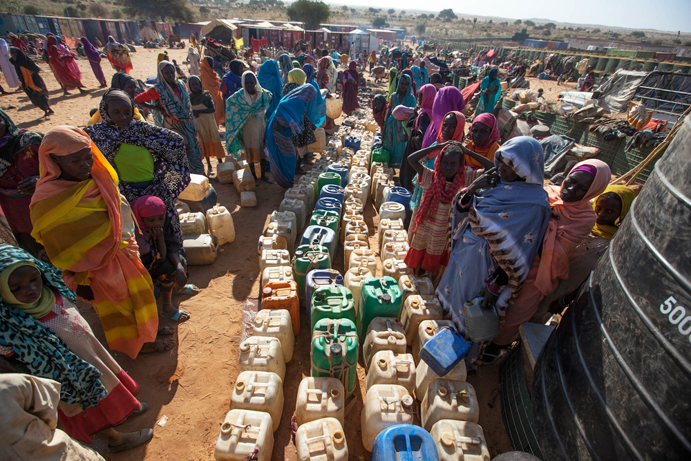27 January 2015. Um Baru: Thousands of people, mostly women and children, take refuge at a safe zone adjacent to UNAMID's base in Um Baru, North Darfur.The newly displaced people fled from different villages which had been reportedly attacked. UNAMID peac