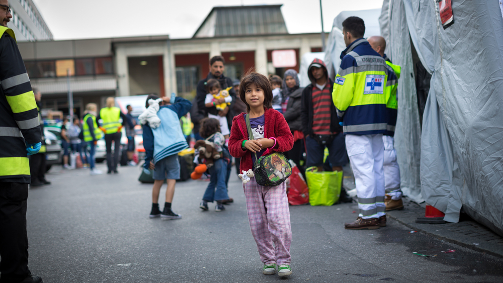 Thousands of refugees, mostly Syrians, arrived at Munich central train station in Germany on 6 September, 2015.