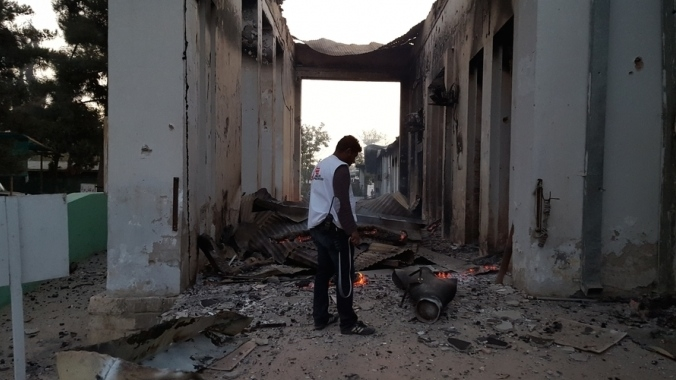 MSF hospital after bomb in Kunduz, Afghanistan
