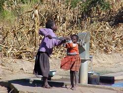 [Malawi] Water pumps are crucial in Malawi.