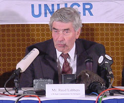 UN High Commissioner for Refugees, Ruud Lubbers.