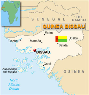 Map of Guinea-Bissau