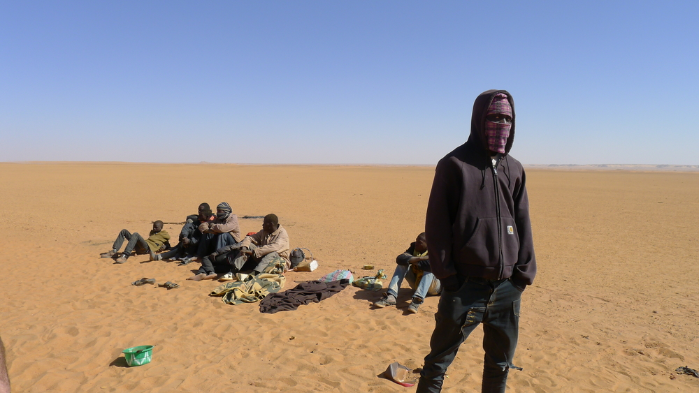 Migrants stranded in the desert