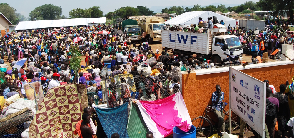 New refugees arrive in Uganda from South Sudan, July 2016