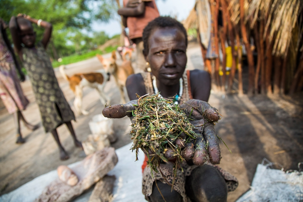 Some South Sudan IDPs leaves