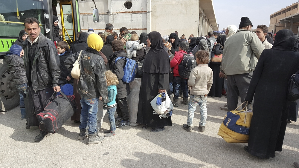 Displaced people from east Aleppo