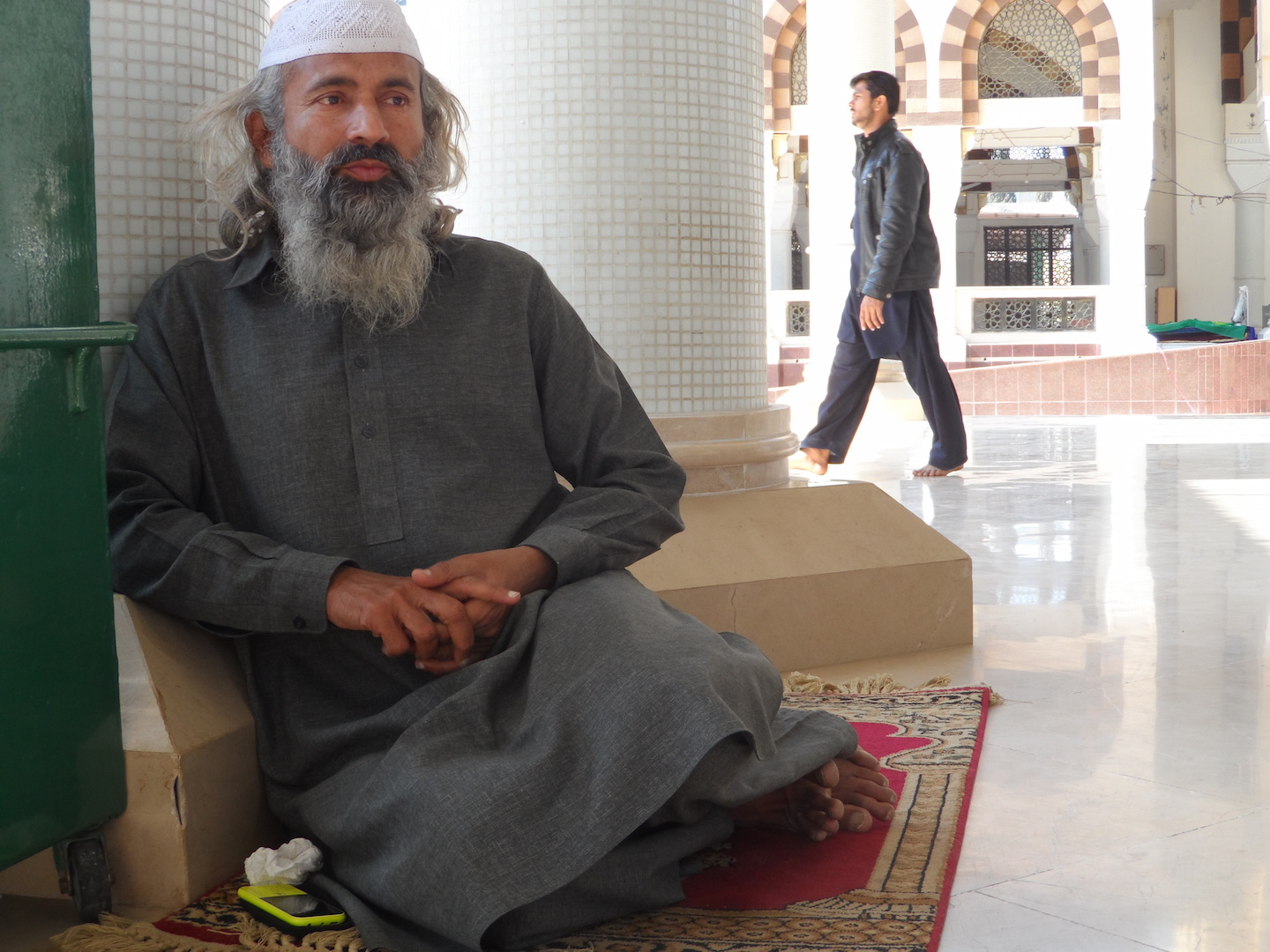 Zahid Hussain preaches at the Bari Imam Sufi shrine in Islamabad