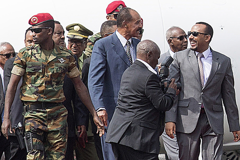 Abiy Ahmed at Addis Ababa airport in Ethiopia