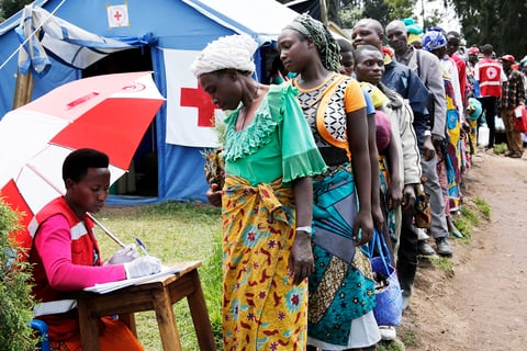 Photo of Ebola screening in Uganda and Congo