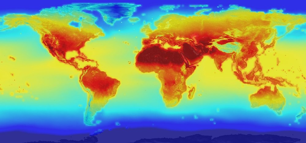 NASA climate change map
