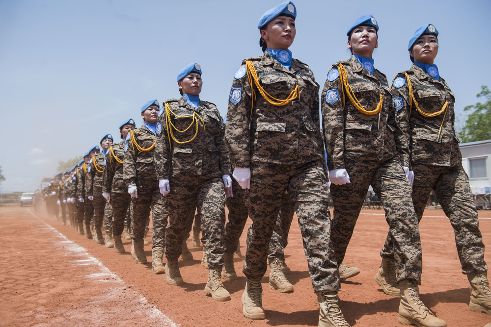 Female Mongolian peacekeepers in South Sudan
