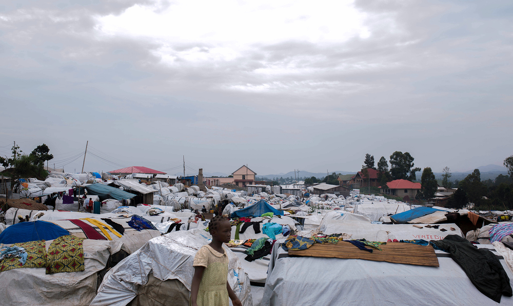 Bleak conditions await displaced people at an IDP camp in Bunia, capital of Ituri province.
