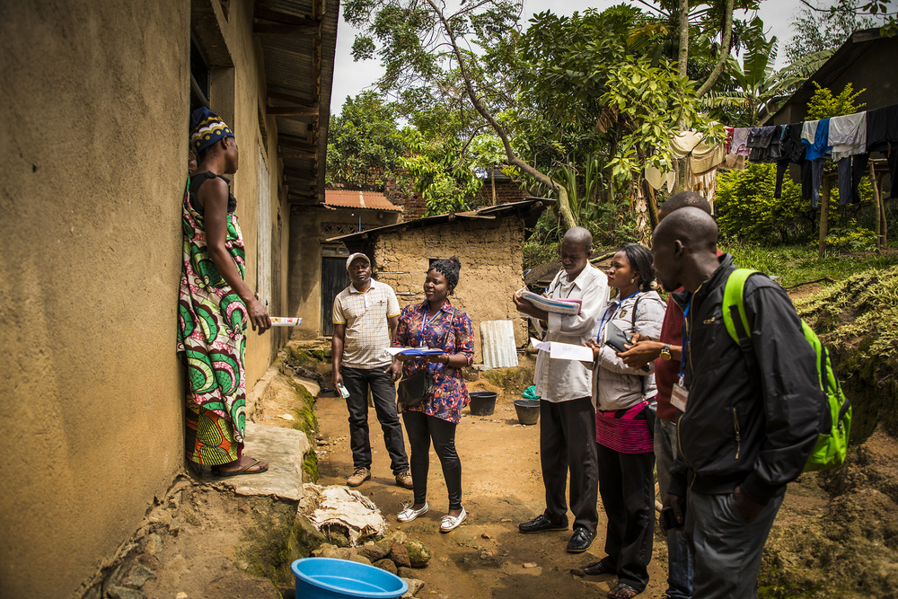 Photo of community responders for Ebola in Beni, Democratic Republic of Congo