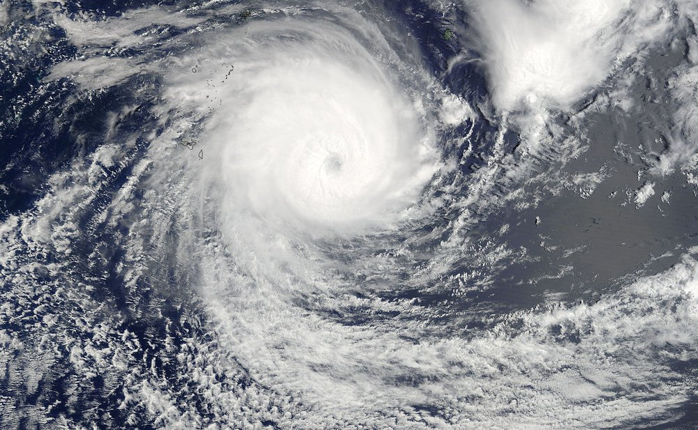 Satellite image of Cyclone Gita