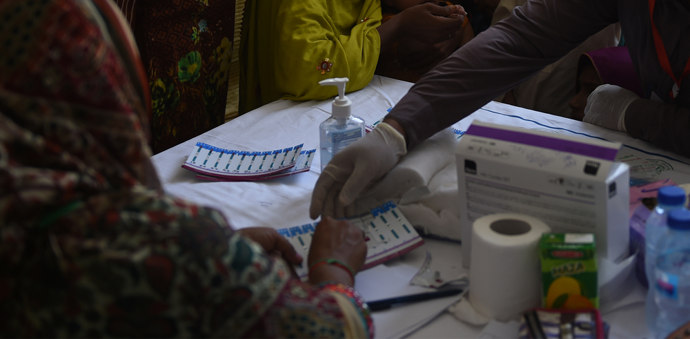 Photo of HIV tests in Sindh province, Pakistan