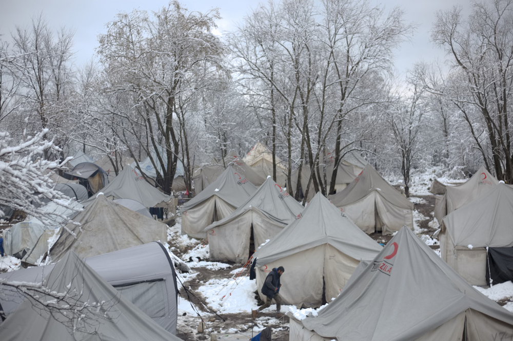 Vučjak camp near the city of Bihać, in Bosnia and Herzegovina, only a couple of kilometres away from the border with EU member Croatia. On 10 December, authorities dismantled Vučjak and transferred residents to camps outside Sarajevo.