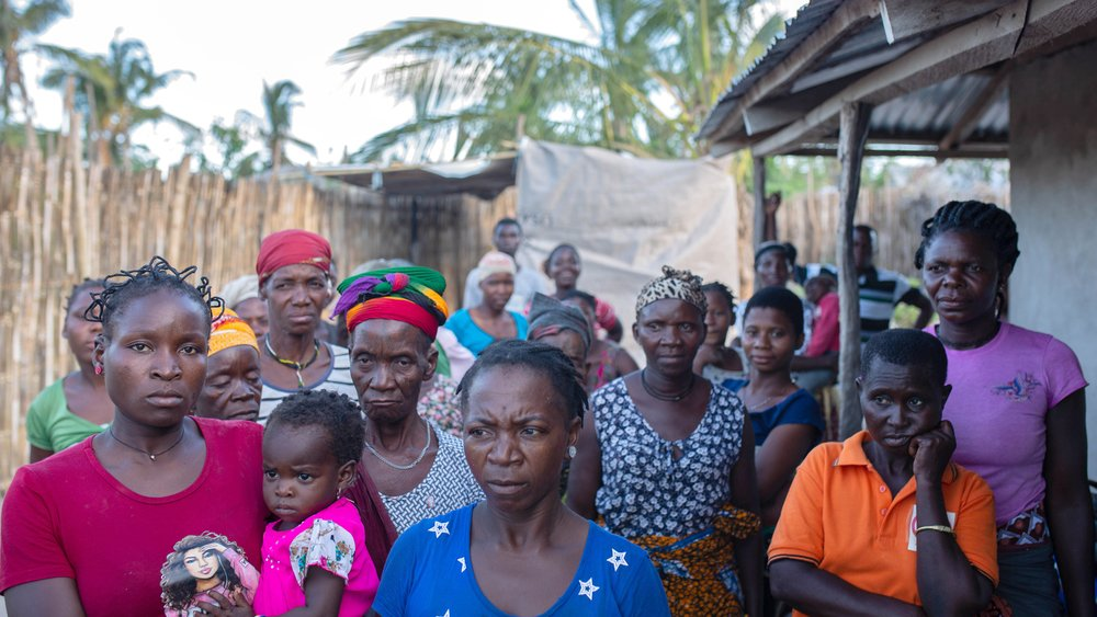 Displaced families fled a village called Miangalewa after an insurgent attack late last month.