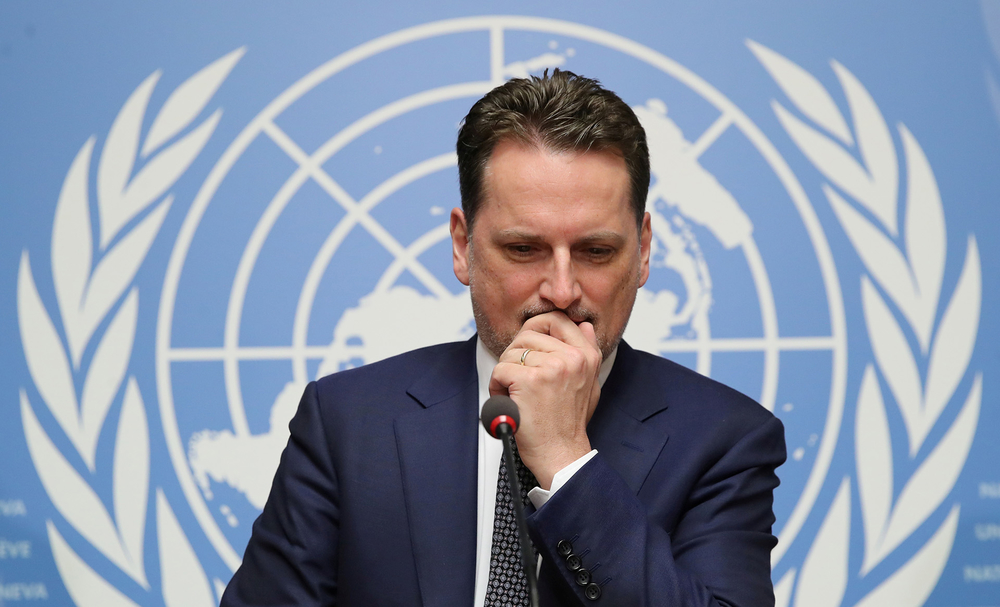 Pierre Krahenbuhl, Commissioner-General of the United Nations Relief and Works Agency for Palestine Refugees in the Near East (UNRWA), attends a news conference in Geneva, Switzerland 29 January 2019.