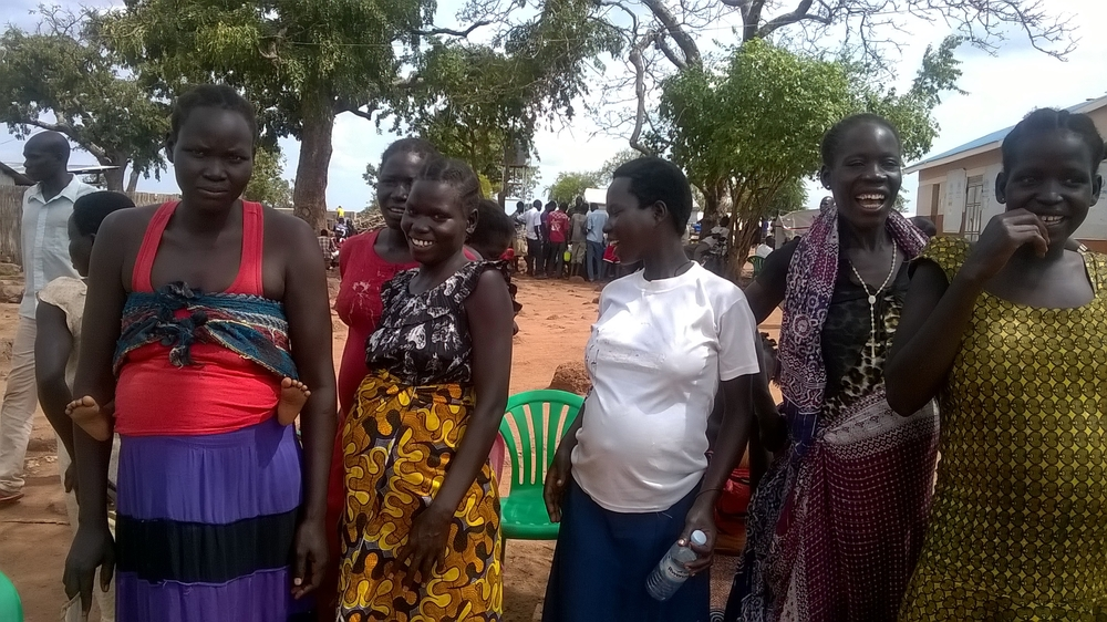 South Sudanese refugee women in Uganda