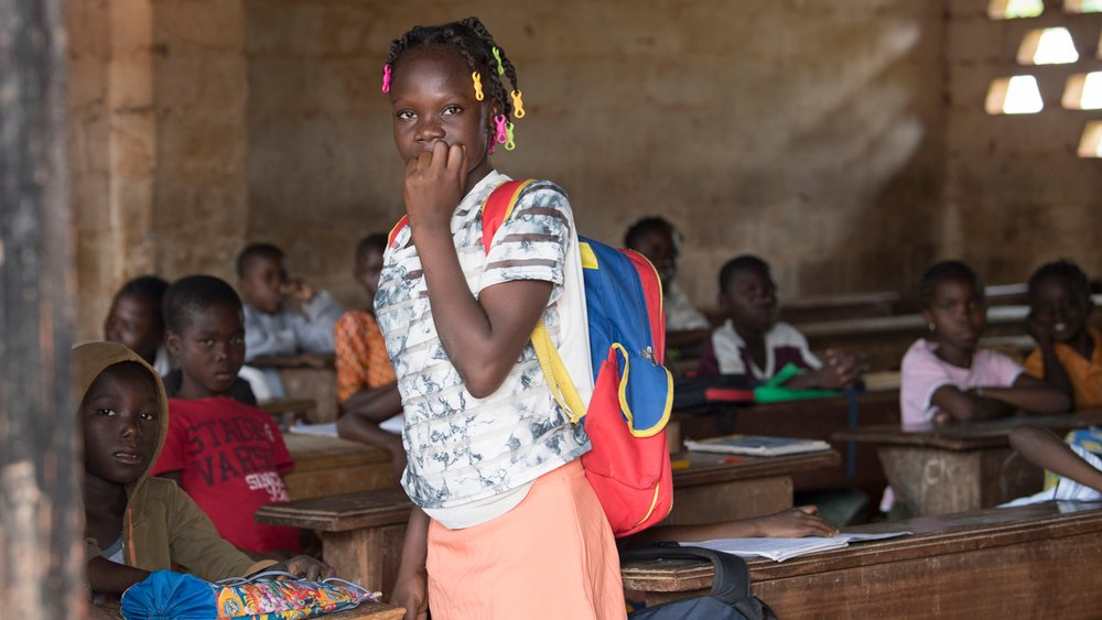 Children at school in Bangui