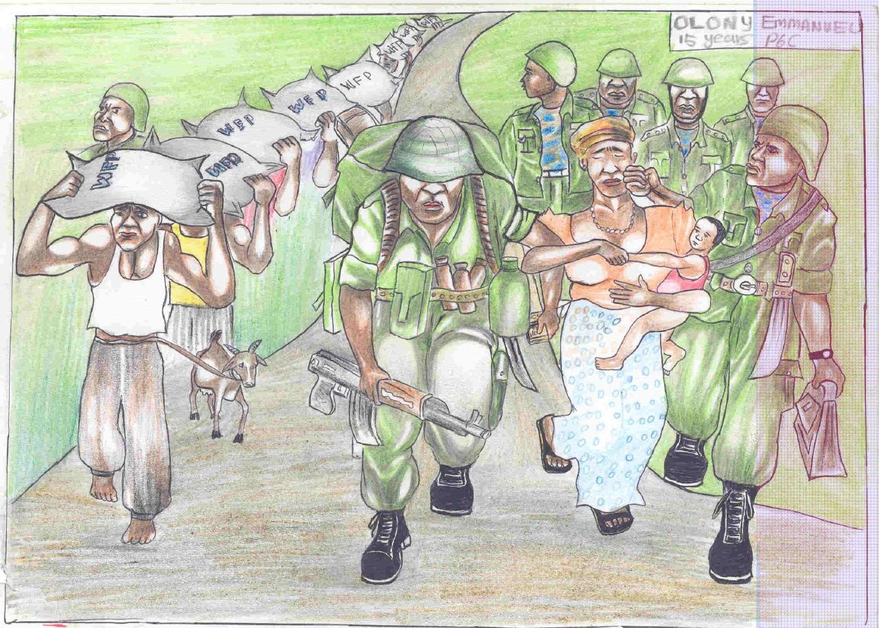 child soldiers drawing