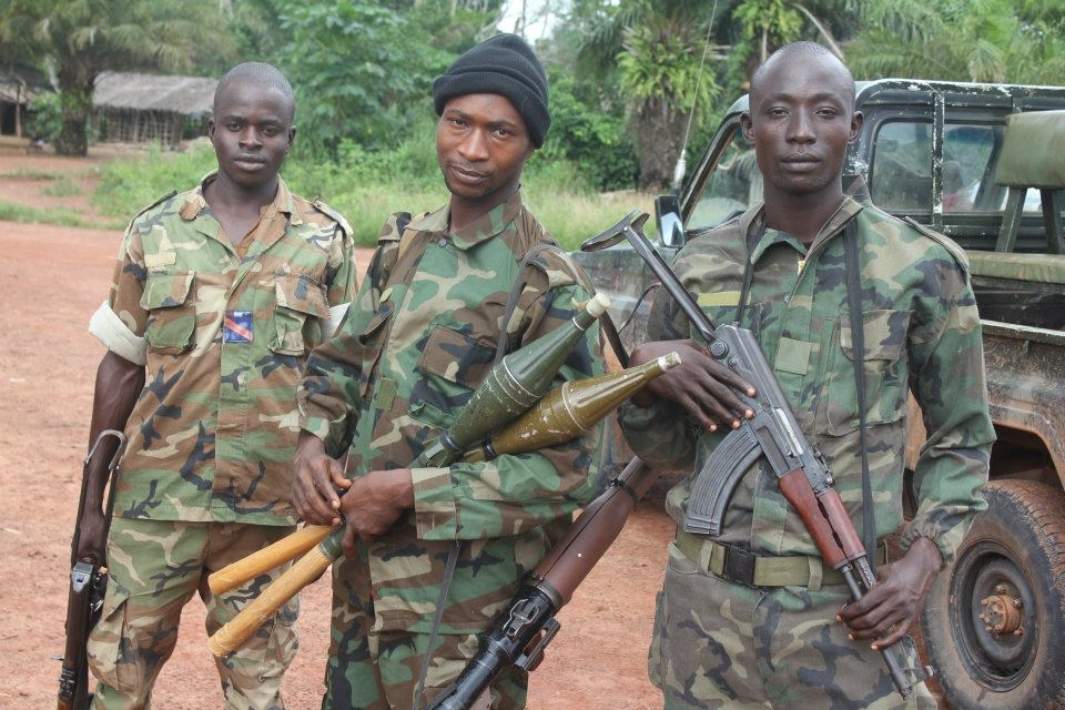 Côte d'Ivoire troops on patrol