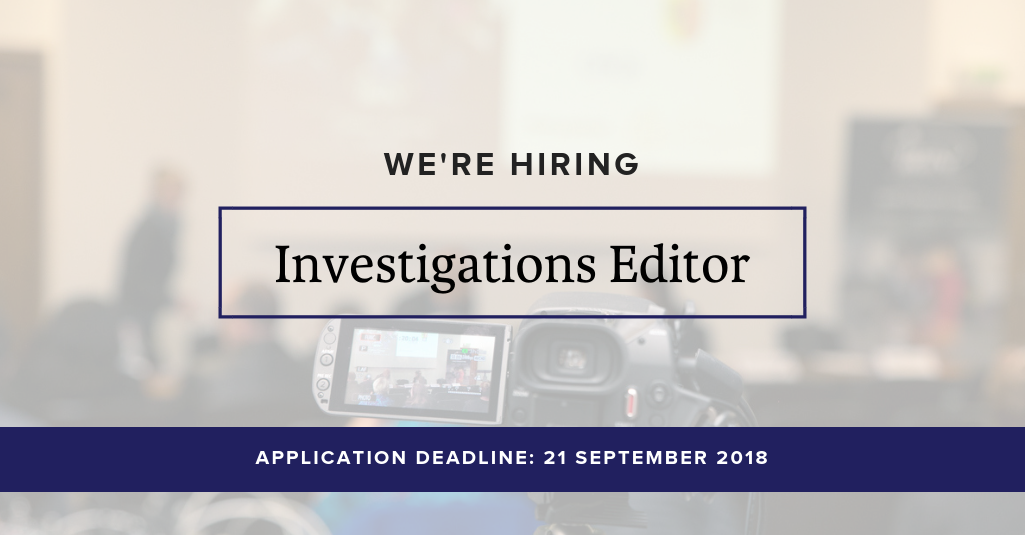 IRIN | We\'re hiring | Investigations Editor