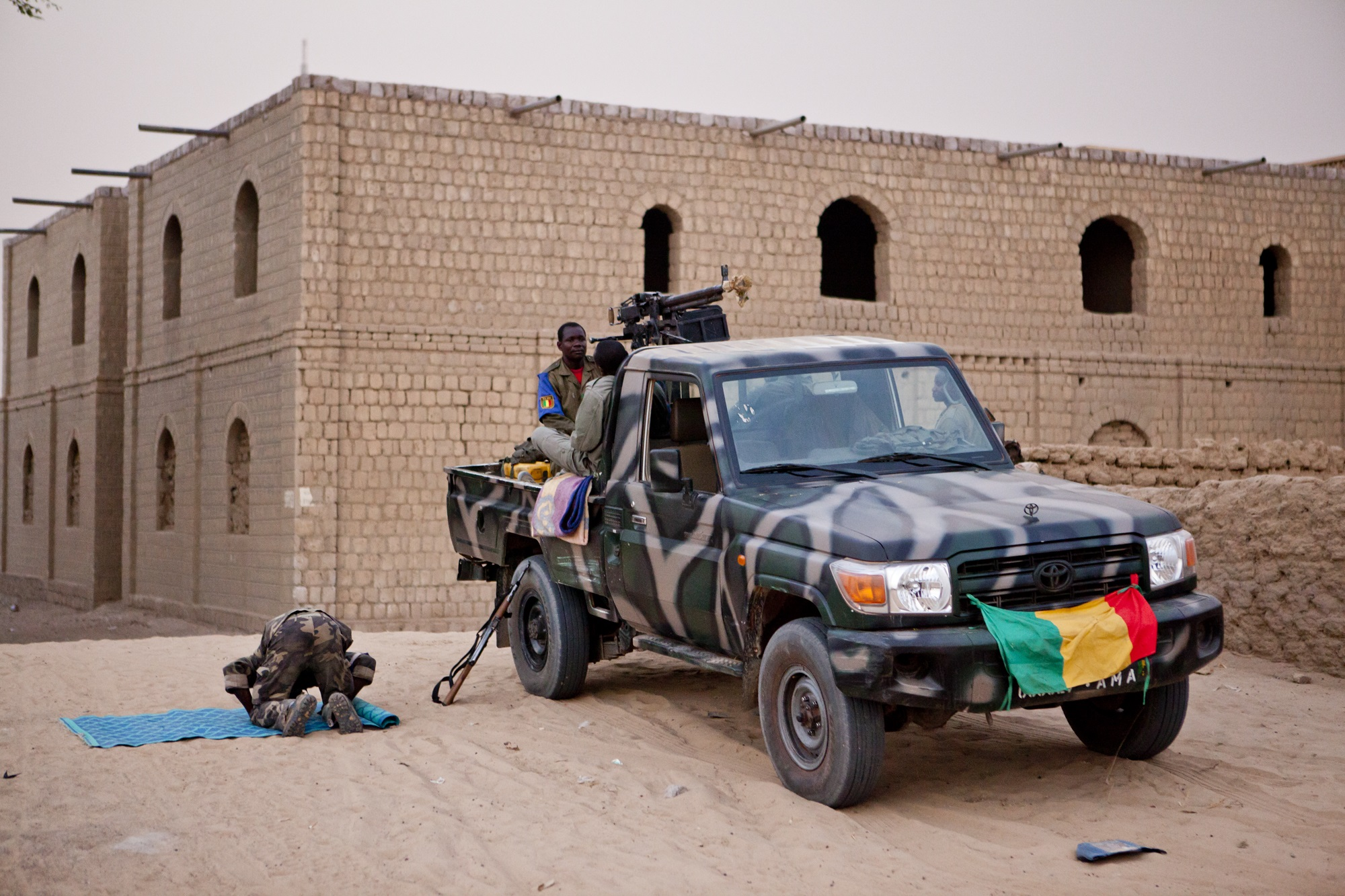 Malian soldiers in Timbuktu