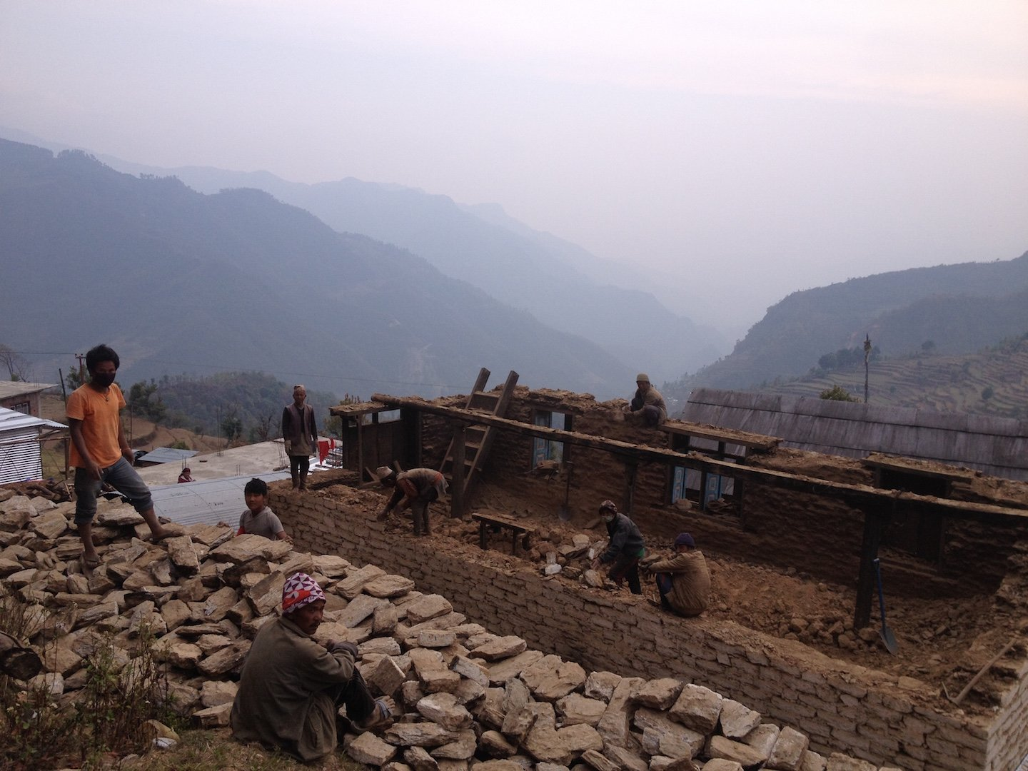 Rebuilding a home in Nepal