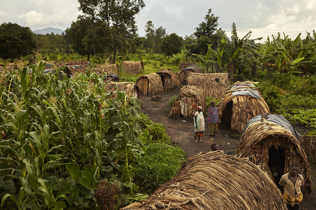 A view of Rukoro refugee camp on the outskirts of the town of Rutshuru in North Kivu.