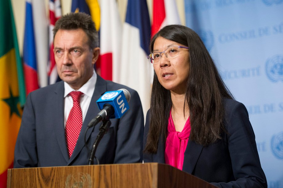Joanne Liu (MSF) and Peter Maurer (ICRC) at the UN