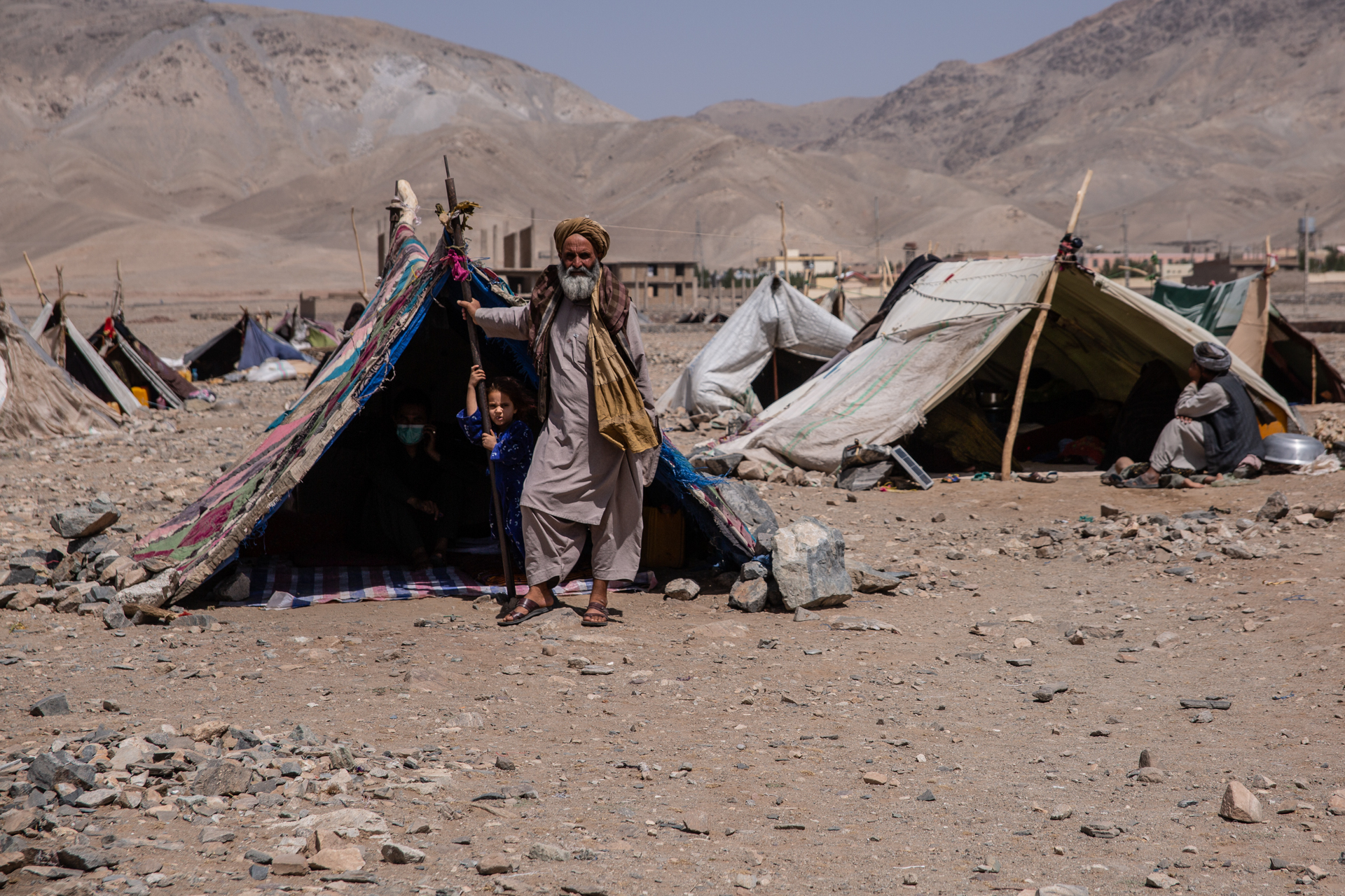 An encampment in Afghanistan