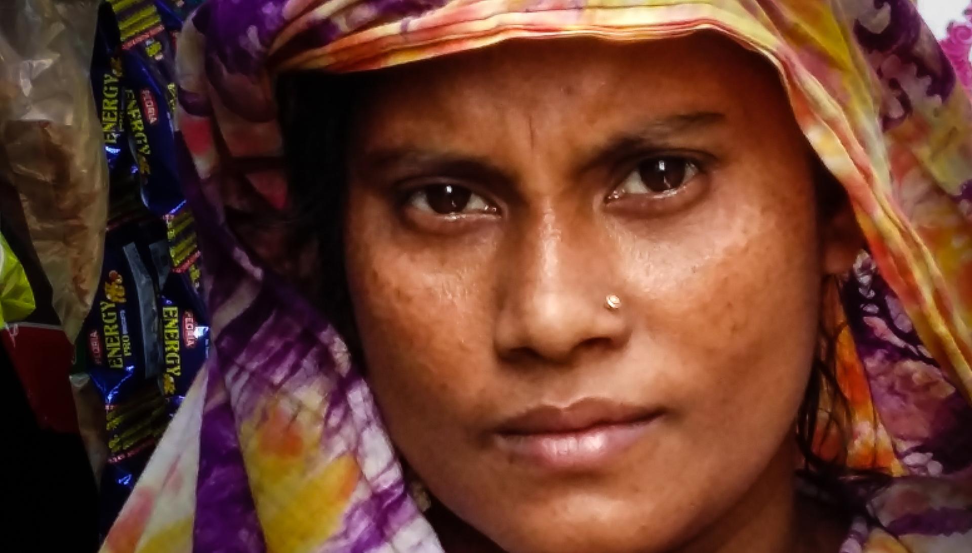 Portrait of a woman close up