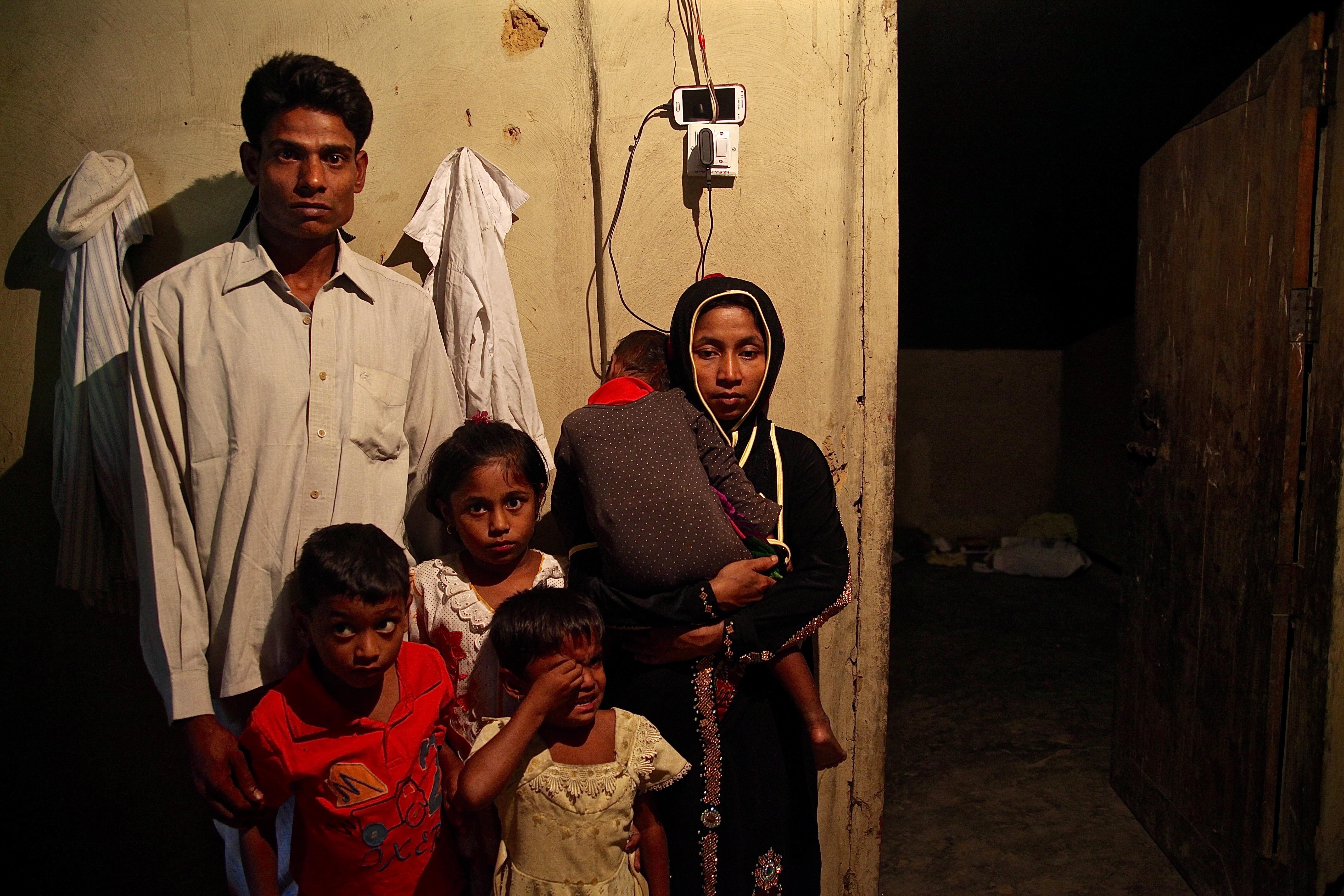 A Rohingya family