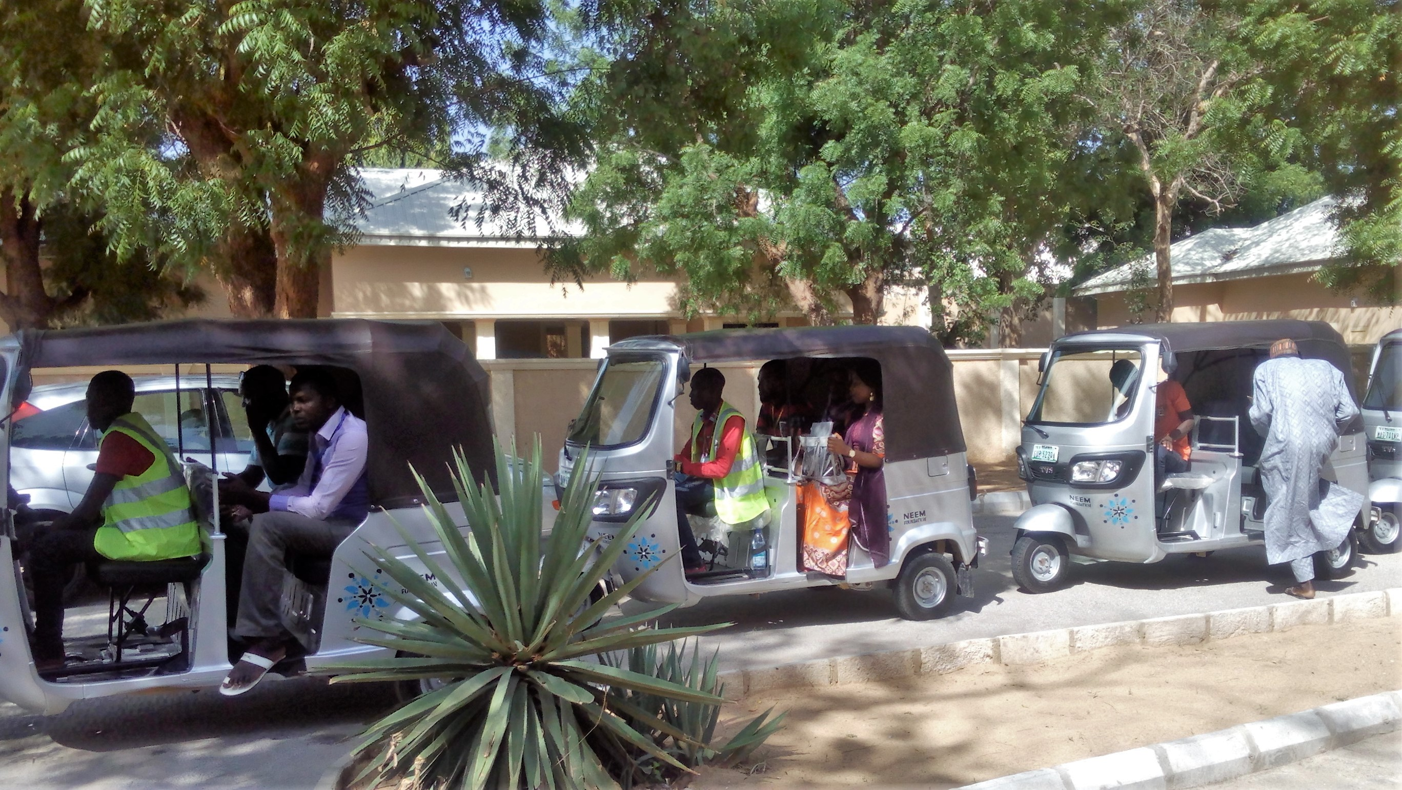 Trauma counsellors set off in tuk-tuks to make house calls in Maiduguri
