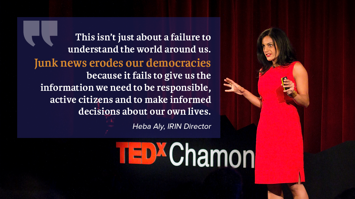 Heba at TEDx - quote