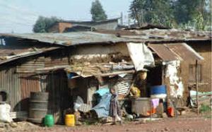 [Ethiopia] Slum housing in Merkato.