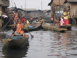 [Nigeria] Makoko, a slum of houses on stilts in central Lagos, Nigeria. Some 15,00 people live here in the most basic conditions imaginable. [Date picture taken: 08/23/2006]