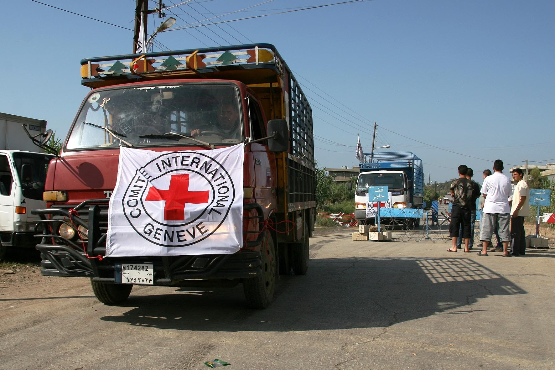The ICRC delivered water and food to Nahr al-Bared on Saturday, but access to thousands in need remains limited.