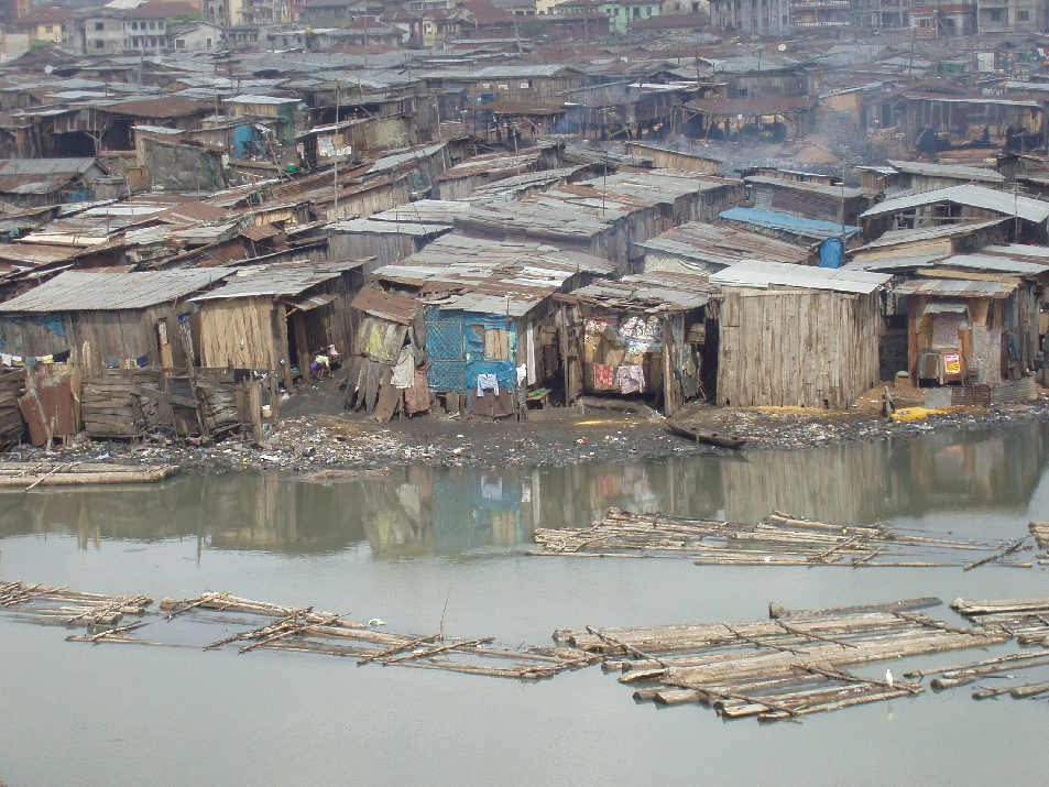 A slum housing in the Ebute Metta district of lagos,Nigeria,September 2007. where the poor live The flooding of the area, which was the second of its type within a month, was one of several others which occurred in several parts of the Ebute Metta slum.