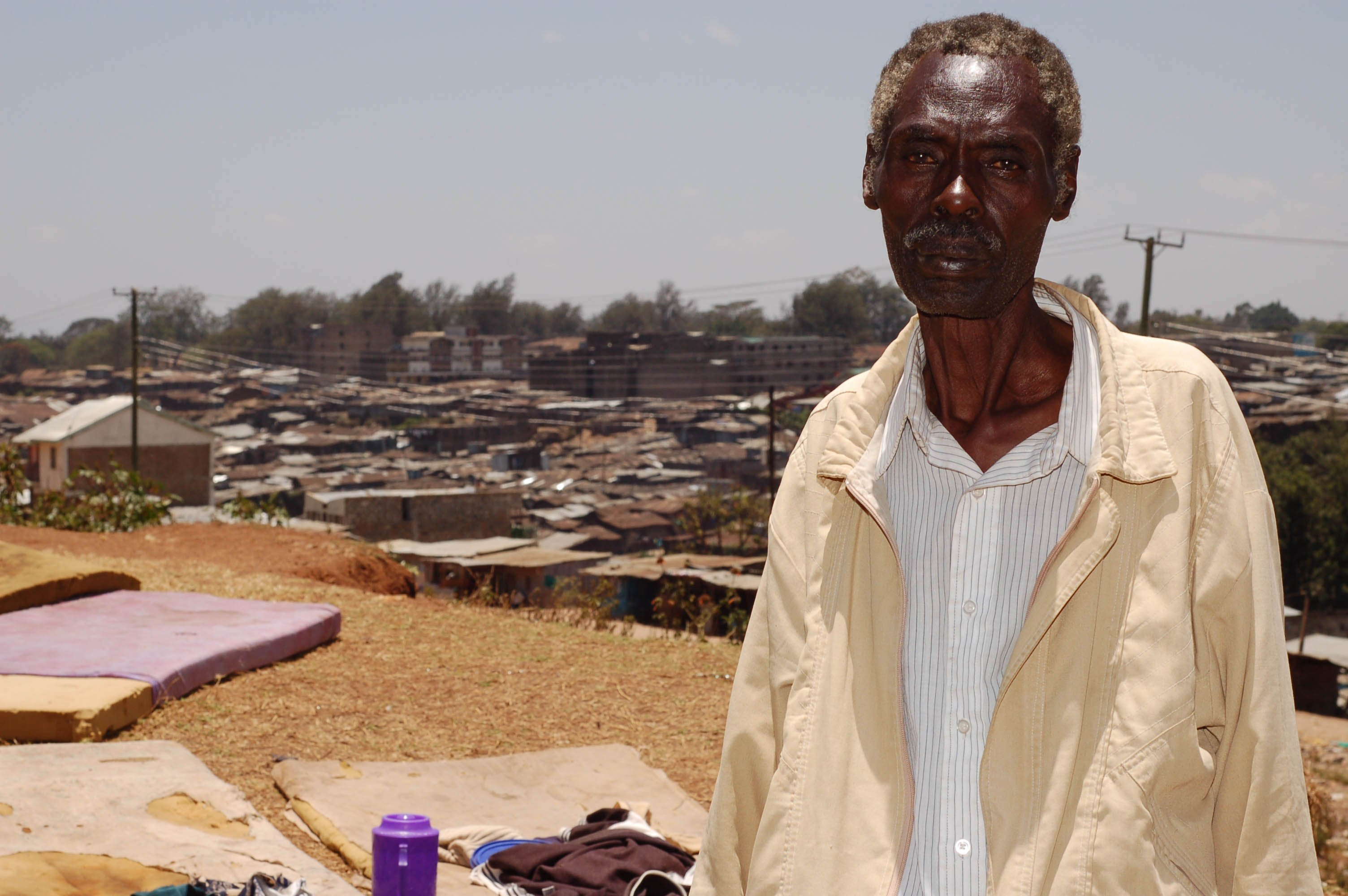 Joseph Mbatia, former resident at Mathare 4B now an IDP at the Mathare police depot, Kenya.