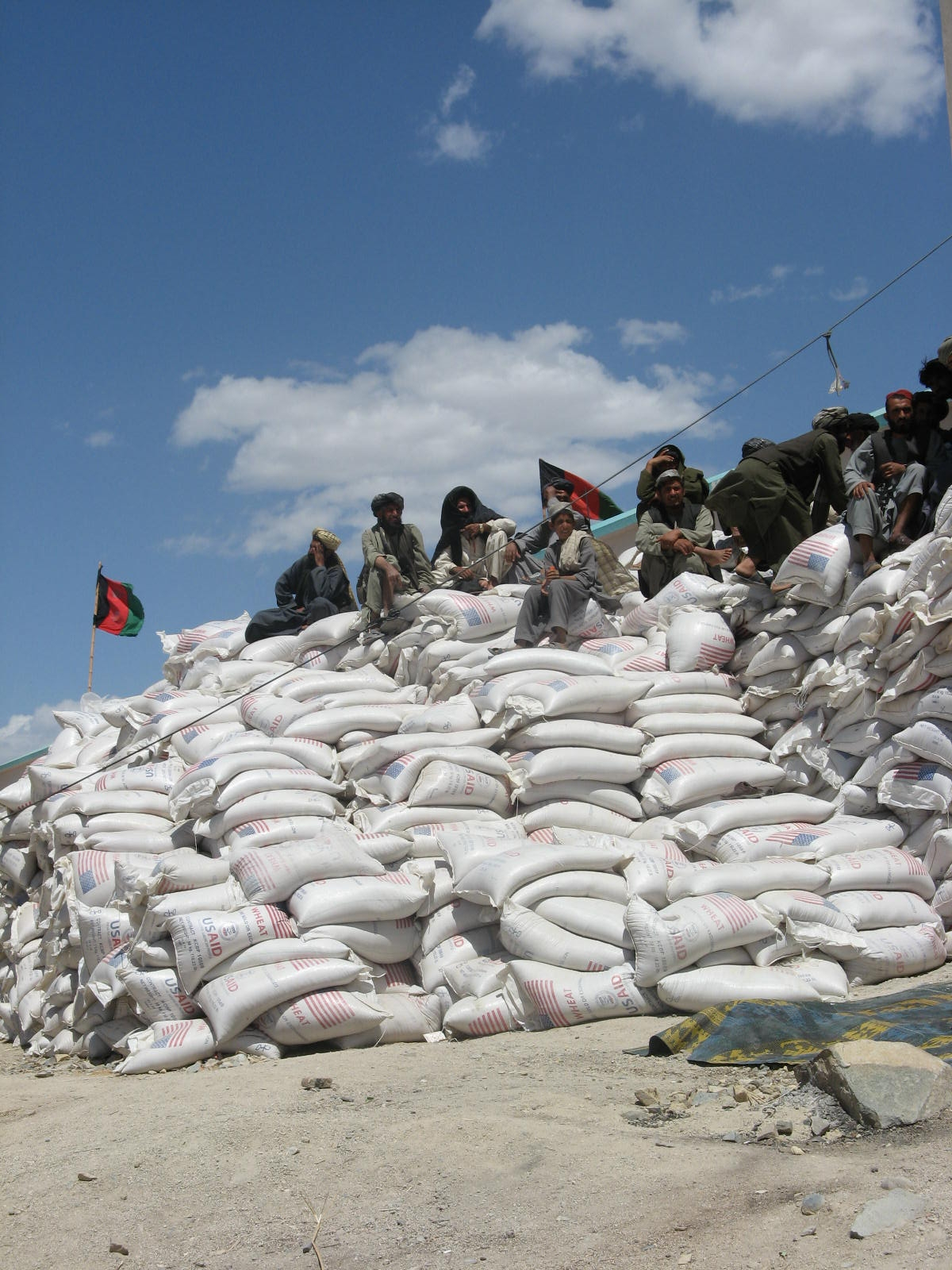WFP says its food aid delivery in Afghanistan has been affected by restrictions on food exports in Pakistan.