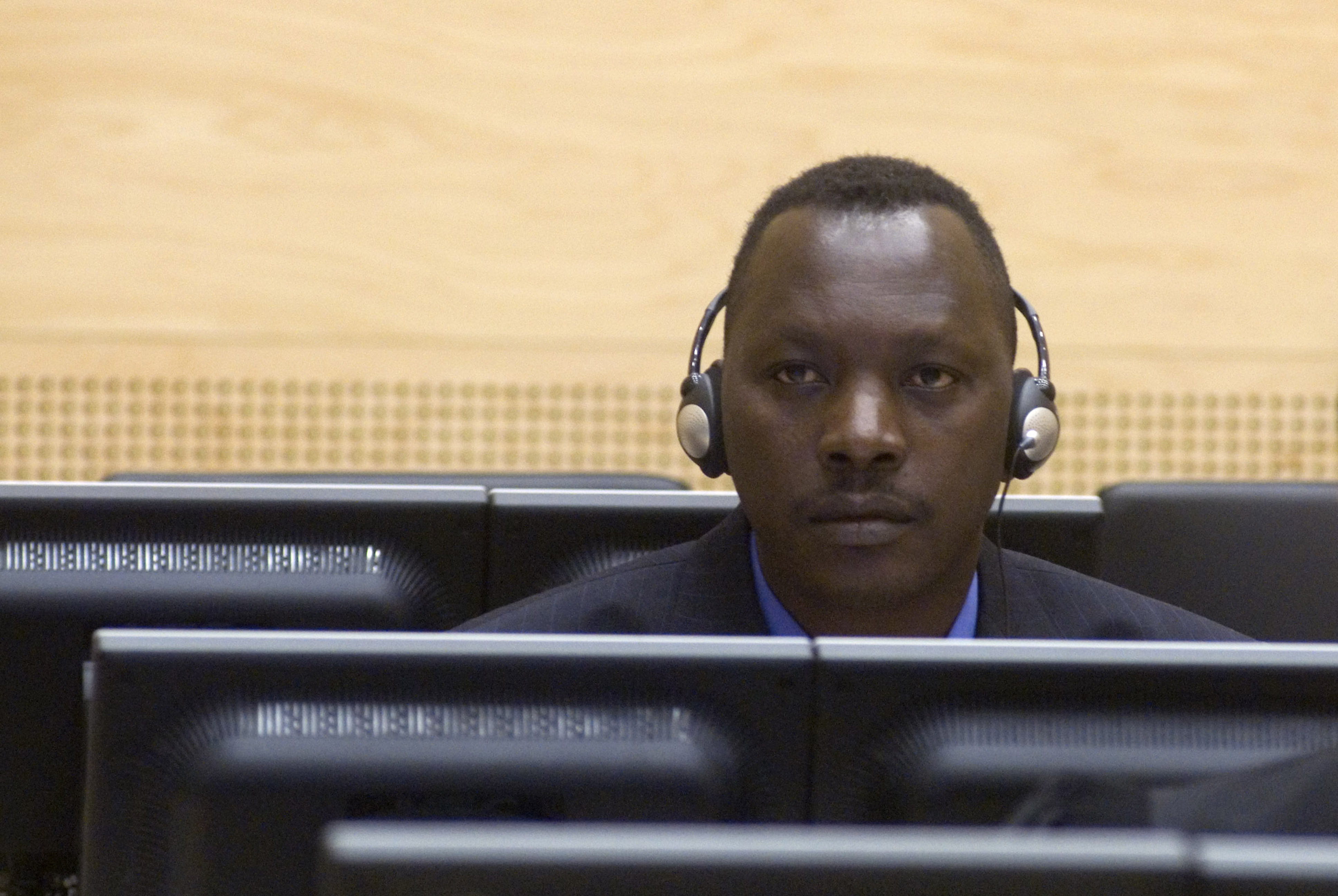 Thomas Lubanga at his first appearance before the ICC in March 2006.