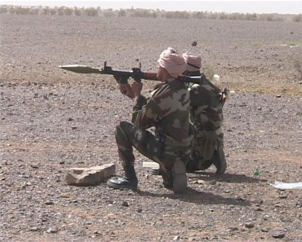 Mauritanian soldiers with an anti-terrorist border unit train in Atar before their three-month mission in northern Mauritania