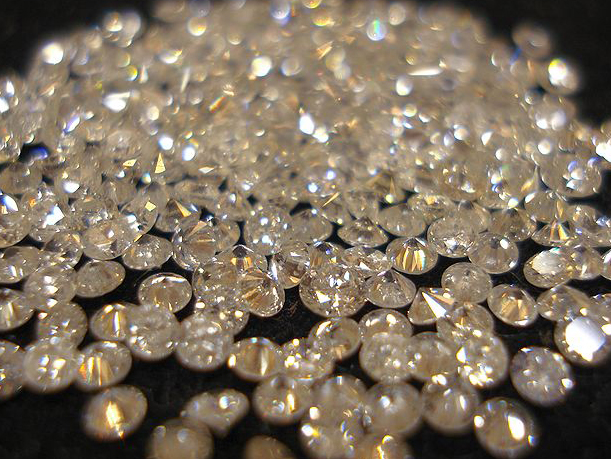A pile of diamonds