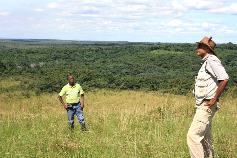 Oliver Mushiete on the Bateke plateau in Democratic Republic of Congo, the site of Central Africa's first carbon sink