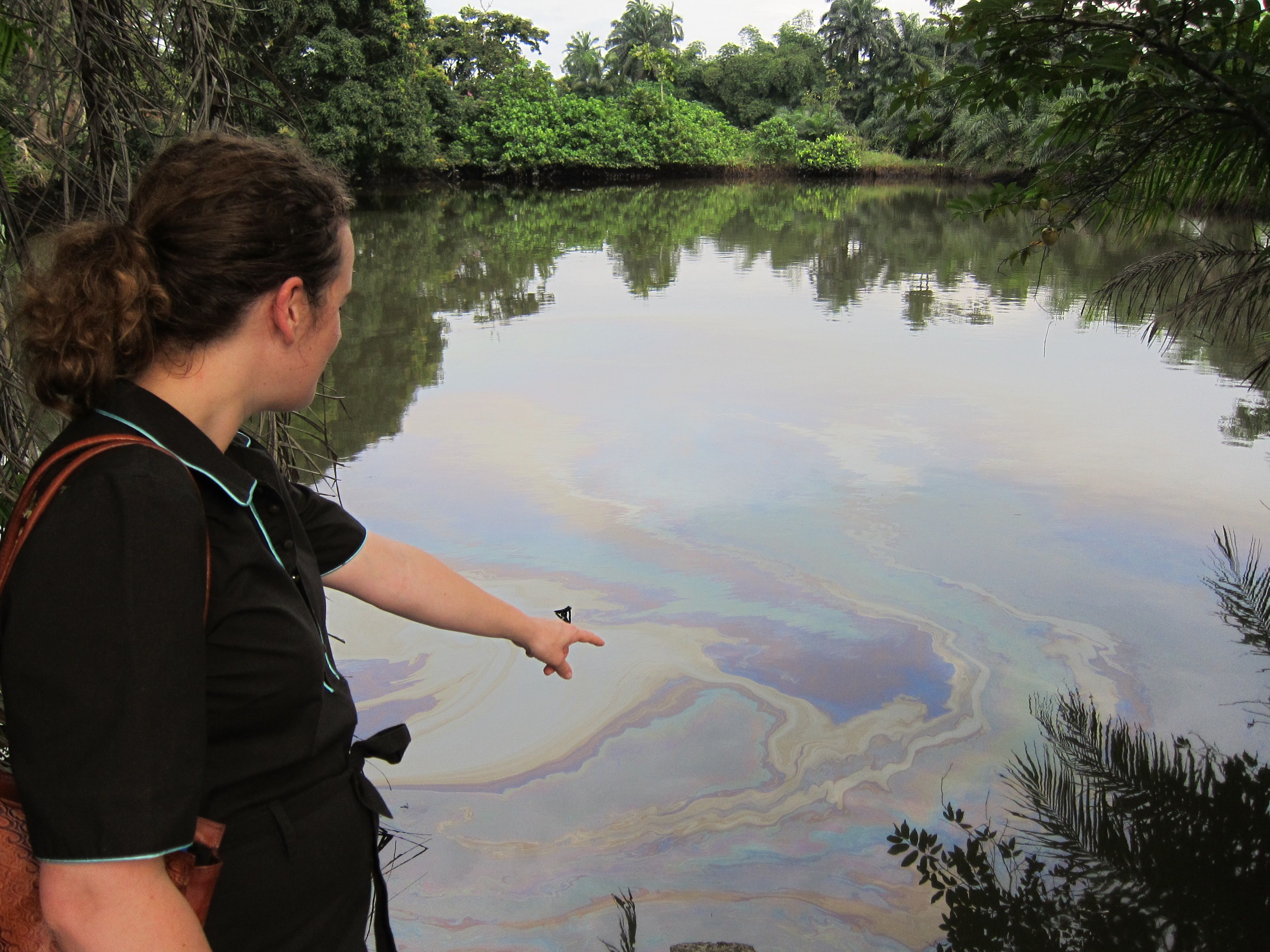 Amnesty International's Aster van Kregten is helping point the finger at oil pollution in the Niger Delta